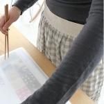 [CONZ] 체크소녀 허리앞치마