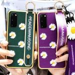 갤럭시s10 s10+ 예쁜 국화꽃 스트랩 핸드폰줄 케이스