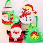크리스마스 바구니 만들기 4개 1set (눈사람과산타)