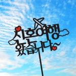신혼여행 T001 케이크토퍼 여행토퍼 자유문구변경