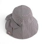 렌시 스트라이프 패션 모자(블랙)