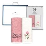 송월 (가정의 달 자수)40수 180g 2P 세트(쇼핑백)
