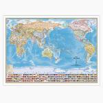 [무료배송]양면코팅 세계지도-국기