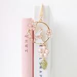 핑크 봄토끼 금속 북마크 책갈피 2color