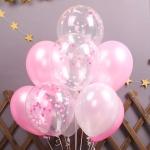 스위트 컨페티풍선세트(10개입) 핑크