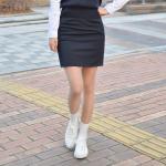 허리조절 4계절용 하복 스판 네이비 교복치마