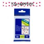 [부라더정품]라벨테이프 TZe-MPPH31(12mmx 4M) (하트패턴바탕/검정글씨)