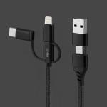 엑토 5in1 충전 데이터 5핀 8핀 타입C 케이블 USB-40