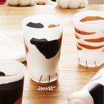 코코네코 정품 고양이발 유리컵 (아기,엄마고양이)