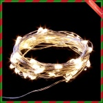 밧데리 트리전구/50구 드럼 투명선 LED 웜색(5M)