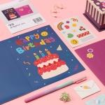 생일 축하 편지 보석십자수 카드 만들기 키트