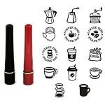 [커피앤티]커피앤티-Ink-in-스탬프(원형12mm)★쿠폰스탬프(14종선택)