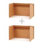 [페이퍼팝]골판지 독서실 칸막이 1+1