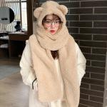 쏘큐티 겨울 곰돌이 퍼 목도리 털모자  인싸템