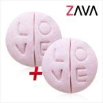 자바(ZAVA) 천연 거품 입욕제 - 음탕시리즈 02.러브정 1+1