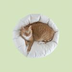 고양이 쿠션 Pancho Pouf - Linen