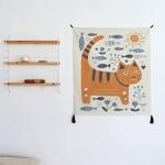 스칸디나비안 일러스트 패브릭 포스터 / 가리개 커튼