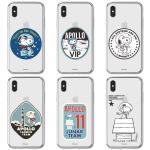 정품 스누피 아폴로 투명 젤리 스마트폰케이스