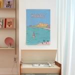하와이 일러스트 패브릭 포스터 / 가리개 커튼