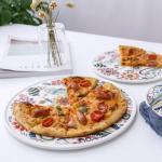 온나 세라믹 플라워 디저트 접시 그릇(대형)