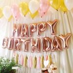 알파벳은박풍선세트 (HAPPY BIRTHDAY) 로즈골드