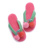 크래프트홀릭 CHERRY RAB SLOTH FLIP FLOPS