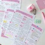 핑크 리본 노트패드