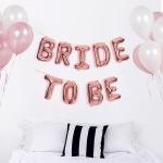 은박풍선세트 BRIDE TO BE 로즈골드