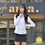 [빅사이즈]프리미엄 여성셔츠 -4XL(각카라 밝은블루)