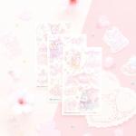 마넷 컷팅스티커 - 벚꽃밤비