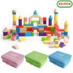 토도리브로 원목50PCS 블록(보관가방)