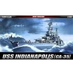 (아카데미과학 AC14107) 1/350 U.S.S. CA-35 인디아나폴리스 전함 프라모델