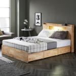 [노하우] 로이 고무나무원목 LED 3서랍 침대 Q