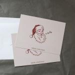 호호호 산타 크리스마스 카드+엽서 2장 세트