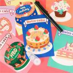 빈티지 감성 케이크 생일 엽서 축하 카드 6종 FRAISEL