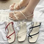 [애슬릿]스퀘어 여성 쪼리 슬링백 샌들 4cm