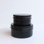 갓샵 원형 틴케이스 블랙 150ml 철제 알루미늄 캔박스