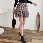 Leopard Cancan Mini Skirt