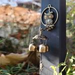 행운의 부엉이 종 부자되는 현관문 도어벨 풍수장식