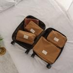 케이블랑 여행용 방수 파우치 4종 세트 (2colors)