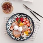 아이카 빈티지 블루 플라워 접시(25cm) 1p