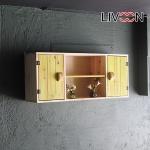 리브온(LIVOON) 원목 보드 도어 벽선반