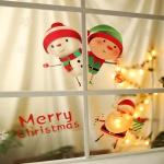 크리스마스 칼라 윈도우 스티커 (산타프렌즈)
