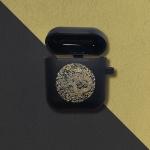전통문양 군청색 곤룡포 에어팟 케이스