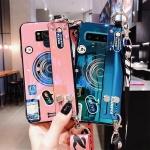 갤럭시노트9/노트8/카메라 스트랩 유광 실리콘 케이스