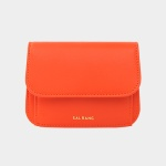 Dijon 301R Round Card Wallet coral orange 디종 카드 월렛 코랄오렌지