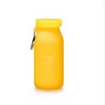 세계최초 접이식 실리콘 물병 부비바틀 450ml(레몬)