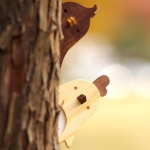 나무 문패 아이방꾸미기 디자인소품 귀여운 원목 도어사인 편지배달부