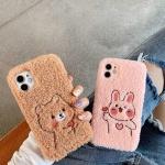 아이폰12 11PRO SE2 X 8 XR 토끼 곰돌이 자수 케이스