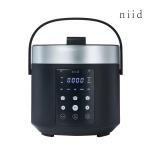 니드 3인용 미니 소형 전기 압력 밥솥 NIID5 블랙